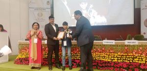 """Child Prodigy and Innovator Award"""" at National Leadership Summit on Women and Education 2019"""